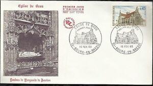 France-1969-FDC-1er-jour-Eglise-de-Brou-Bourg-en-Bresse