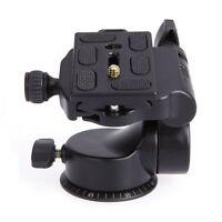 QZSD Q08 Video Tripod Ball Head 3-way Fluid Head with Quick Release Plate f U7B5