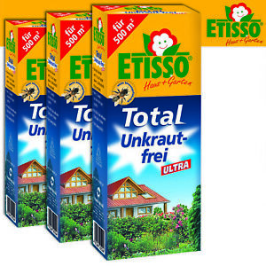 Frunol Delicia Etisso 3 x 250 ML Total Unkraut-Frei Ultra