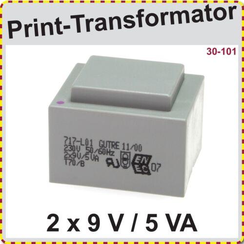 Printtrafo Print Trafo EI 42//14,8  5VA  primär 230 V   sekundär 2x9 V