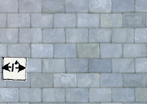 Old-Grey-Slate-Roof-JM72-wallpaper-dollhouse-1pc-Jackson-039-s-Miniatures