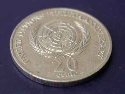 "1995 20c Twenty Cent /"" UNITED NATIONS /"" /"" U.N /' Commemorative 20c"