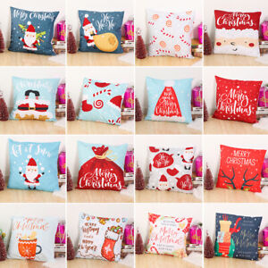 18x18-034-1x-Christmas-Sofa-Pillow-Case-3D-Snowman-Cushion-Cover-Decorative-Cover