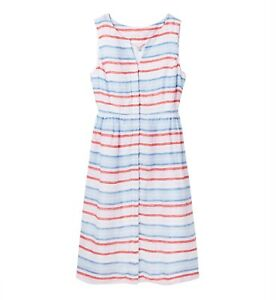 Joules-Lisia-Linen-Dress-Red-Multistripe
