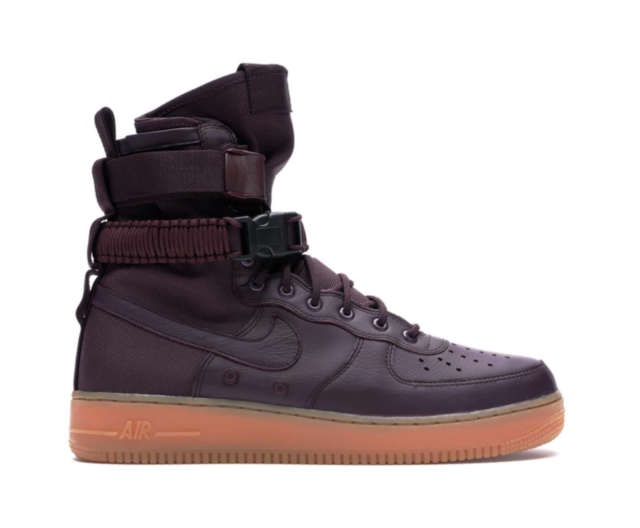 Nike SF AF1 High Air Force One Men's Shoes Size 8 Deep BurgundyGum NEW