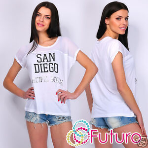 casual t shirt san diego print crew neck short sleeve