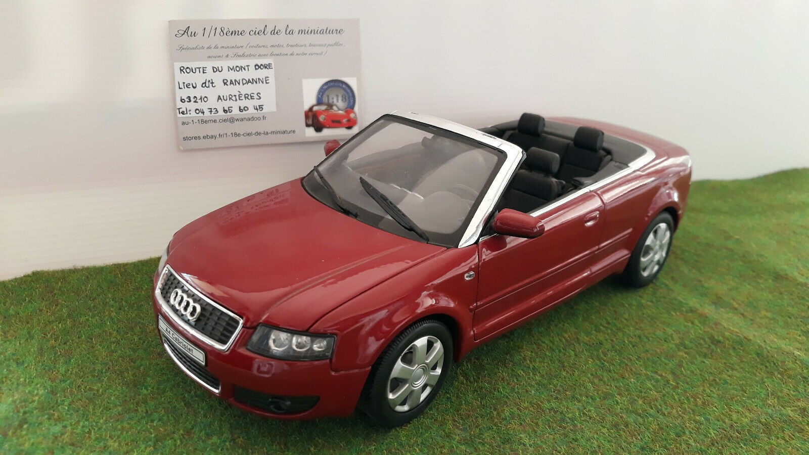 AUDI A4 CABRIOLET ouGrün open bordeaux 1 18 WELLY voiture miniature d collection