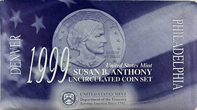 1999 P and D Susan B Anthony Brilliant Uncirculated Dollar set BU
