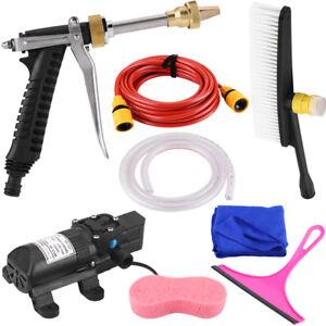 Portable-12V-160PSI-Pressure-Car-Electric-Washer-Water-Gun-Pump-Hose-Kit-US