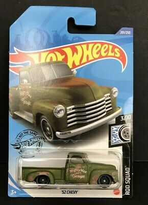 '52 Chevy Pickup Truck Rod Squad 2020 Hot Wheels  Lot of 3 MIGHTY MAX GARAGE