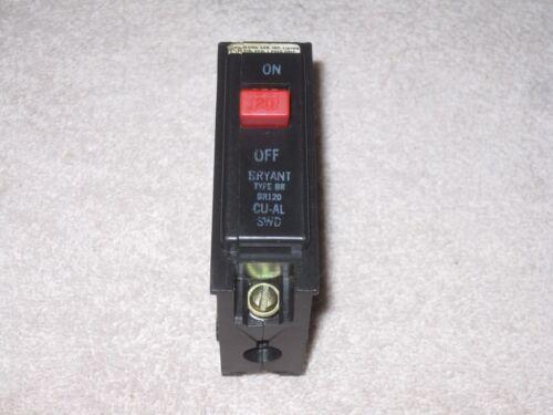 BRYANT BRAND  WESTINGHOUSE Type BR BR120 CU-AL  120//240 VAC  1 Pole 20 AMP