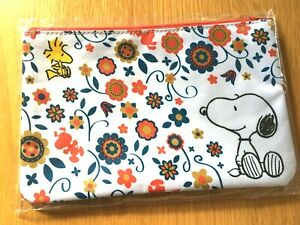 """Japan 5.3×8.7in Stationary Pen case Snoopy Canvas Pouch /""""Sketch/"""""""