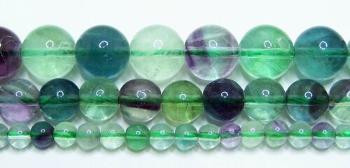 "Rainbow Fluorite Beads 4mm-6mm-8mm-10mm Real Stone 15.5/"" Strand"