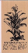 """flower stalk club scrap  Wood Mounted Rubber Stamp 1 1/2x3"""" Free Shipping"""