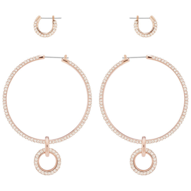 98e6f9a29 STONE PIERCED EARRING SET WHITE ROSE GOLD PLATING 2018 SWAROVSKI JEWELRY  5426004