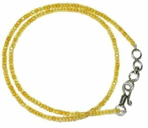 Yellow-Zircon-Gemstone-3mm-Rondelle-Faceted-Beads-12-45-Inch-Strand-Necklace-DDS