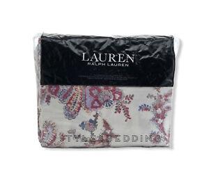 Ralph Lauren Juliet Paisley Full Queen Duvet Cover Shams Set Berry Multi Ebay