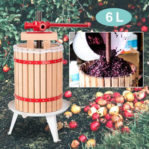 Obstpresse Presse Frucht Obstmühle Spindel Presstuch Filternetz 6L