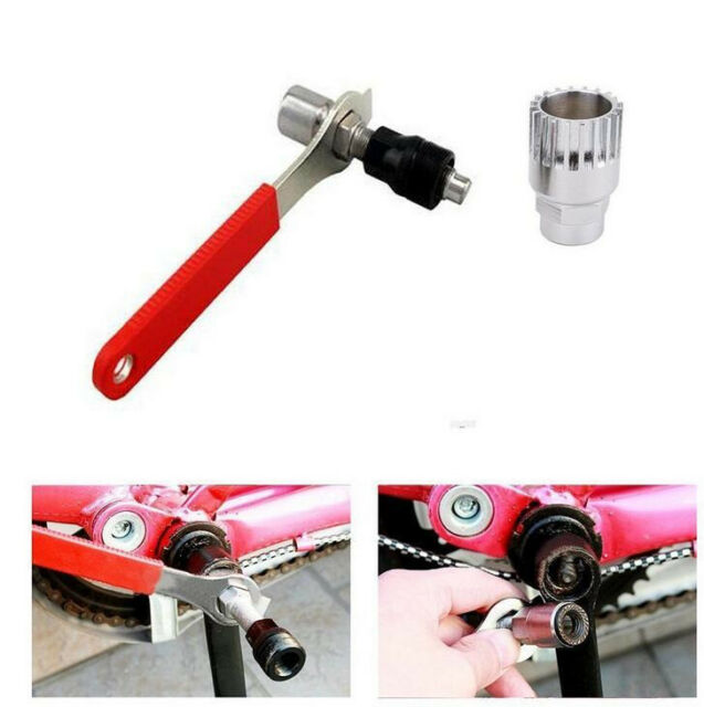Bicycle Crank Set Bottom Bracket Wheel Remover Spanner Repair Tool 6A