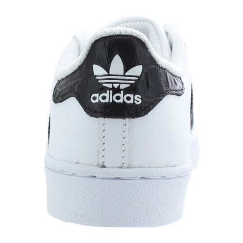 adidas Originals Superstar Kinder Leder Schuhe Turnschuhe BZ0370 Weiß Schwarz