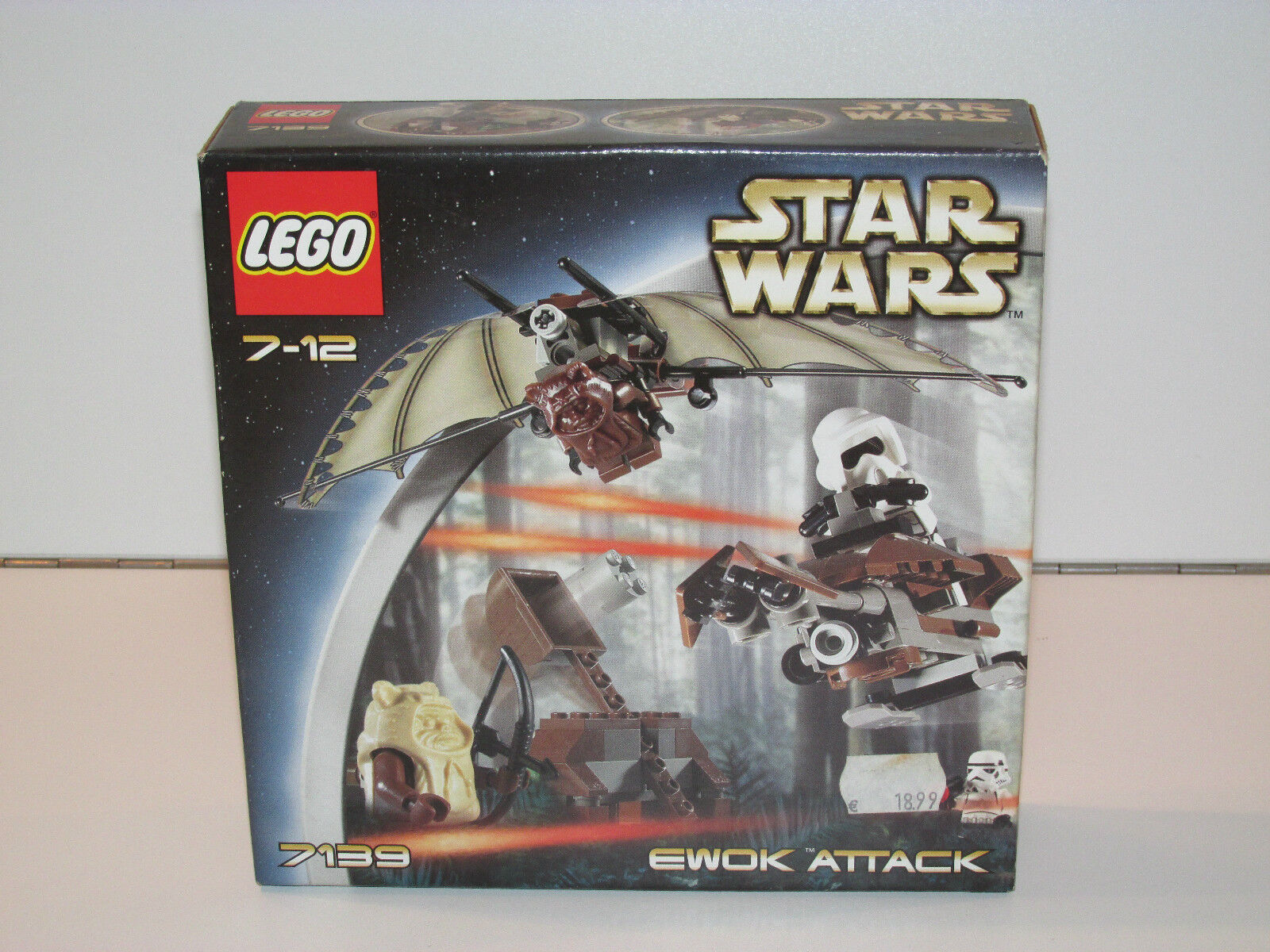 LEGO STAR WARS 7139 EWOK ATTACK MISB SEALED BOX NRFB EWOKS SPEEDER BIKE