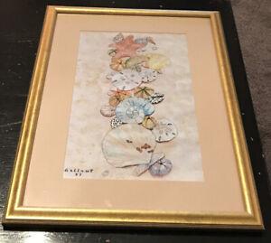 "Dorothy Gallant Artist Art Print Signed 4/50 Numbered • ""Sea Shells"" 15""w X 20""h"
