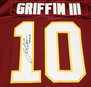 Details about ROBERT GRIFFIN III Signed Washington Redskins Jersey Autograph JSA Size 56