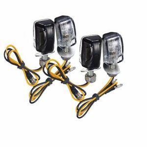 4x motorcycle stalk turn signal light indicator blinker. Black Bedroom Furniture Sets. Home Design Ideas