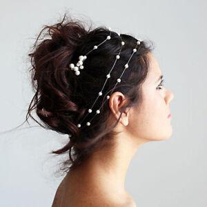 Pearl-Flower-Crystal-Wedding-Bridal-Headband-Clip-Hair-Band-Tiara-Accessories