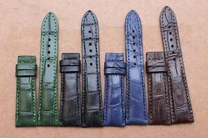 18mm-24mm-Genuine-Crocodile-Alligator-Skin-Leather-Watch-Strap-Band