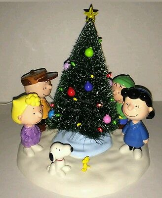 department 56 peanuts a charlie brown christmas snoopy gang w light up tree - Department 56 Peanuts Christmas