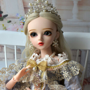 Komplettes-Set-1-3-BJD-Puppe-60cm-Kugelgelenk-Maedchen-Puppen-Prinzessin-Doll-Toy
