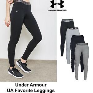 Womens Under Armour Favorite Leggings Soft Cotton Stretchy Leggings NEW