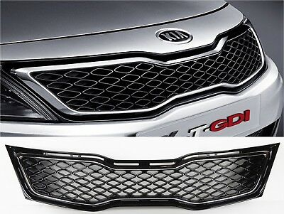 MotorFansClub Chrome Front Upper Bumper Grill Grille Fit for Compatible with Kia Optima SX SXL 2011 2012 2013