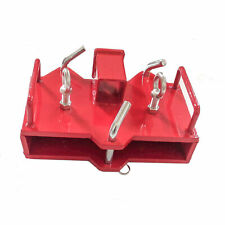 Aleko Trailer Hitch Towing Receiver Adapter For Dual Pallet Forks 2 Inches Red