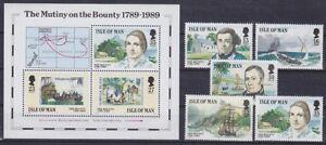 Isle-of-Man-Mi-No-397-401-Block-11-History-Mint-MNH