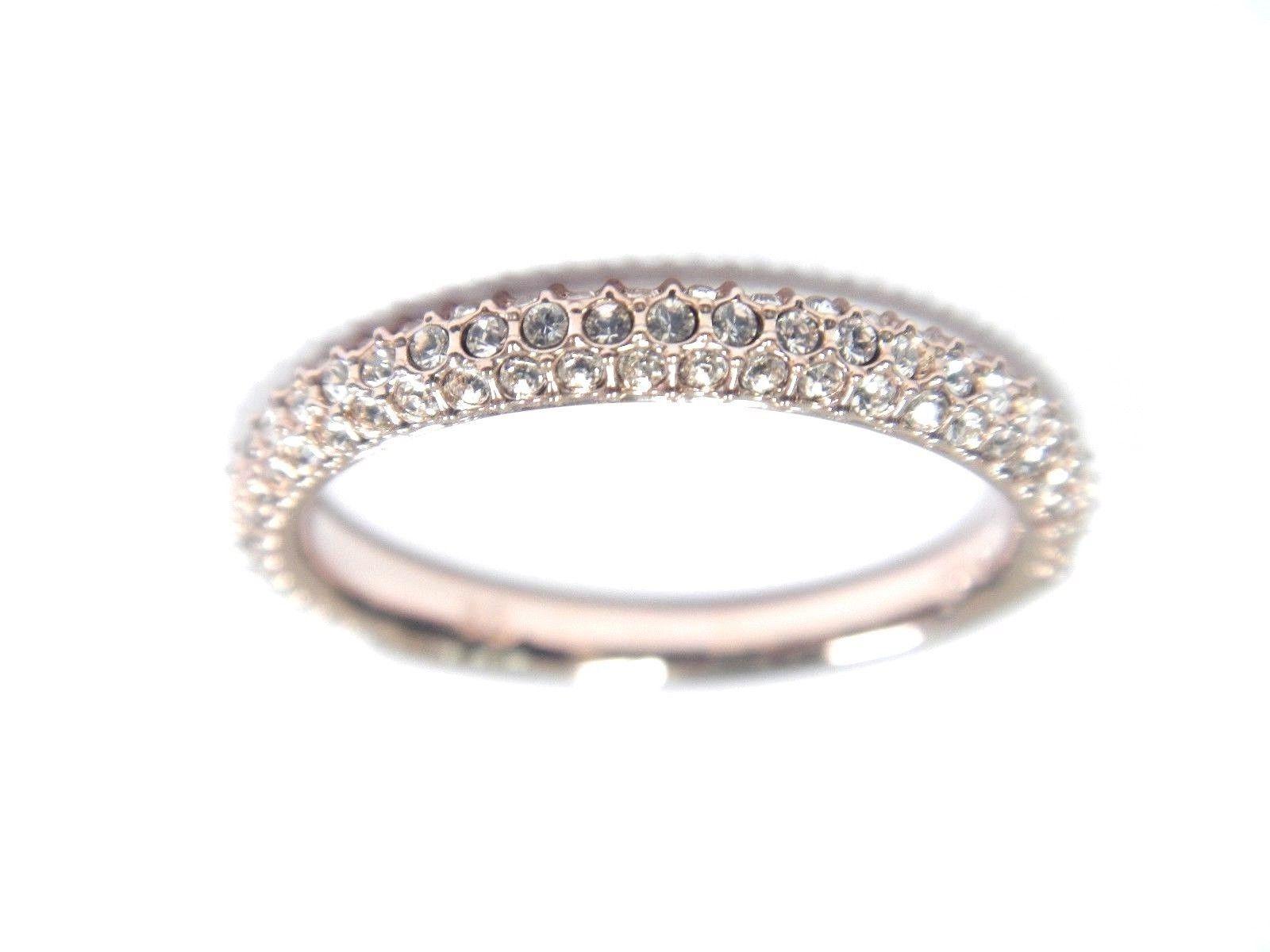STONE MINI RING PINK pink gold SIZE 6 SWAROVSKI JEWELRY 5402443