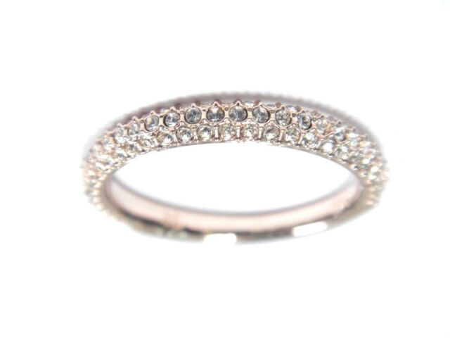 STONE MINI RING PINK ROSE GOLD SIZE 7 EUR 55 2018 SWAROVSKI JEWELRY 5387567 e4341b004
