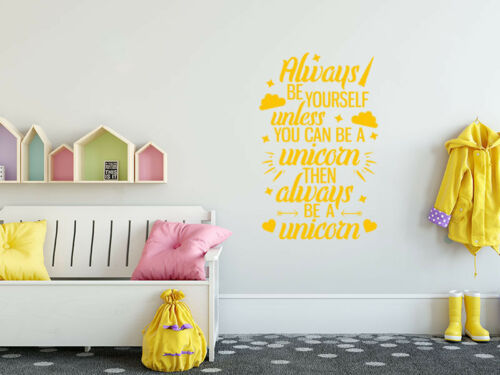"""Fantasy /""""Always Be Yourself.../"""" wall art sticker quote vinyl transfer"""