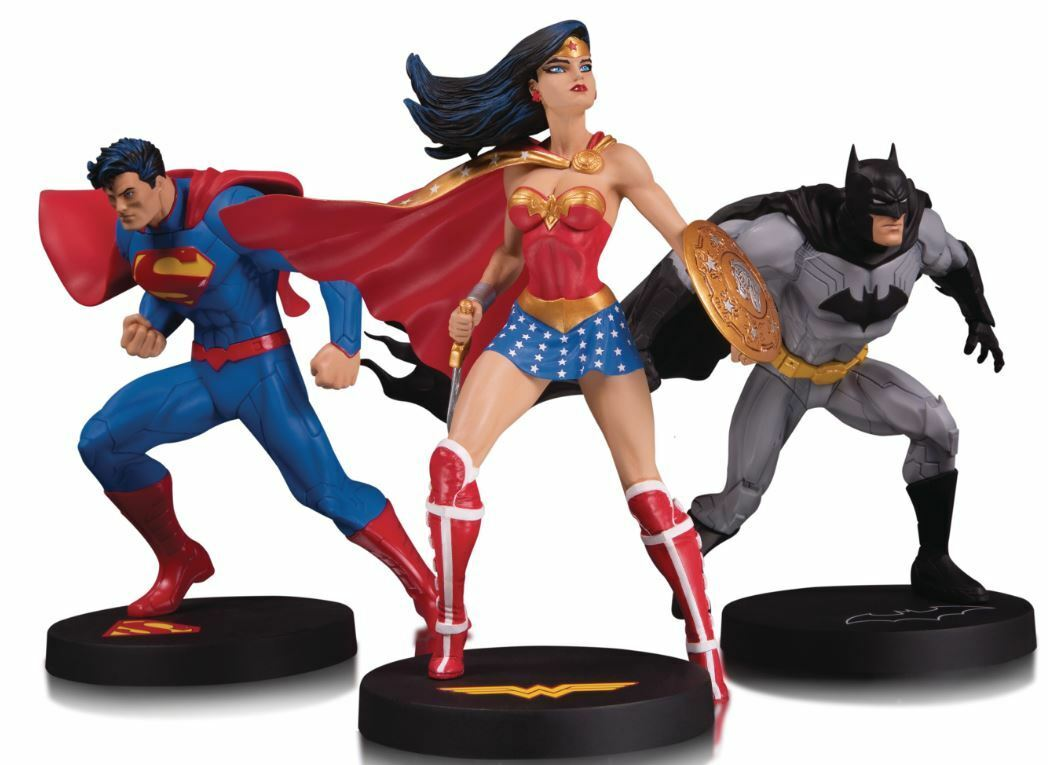 DC Designer Series - Jim Lee - Superman-Batman & Wonder Frau Statues