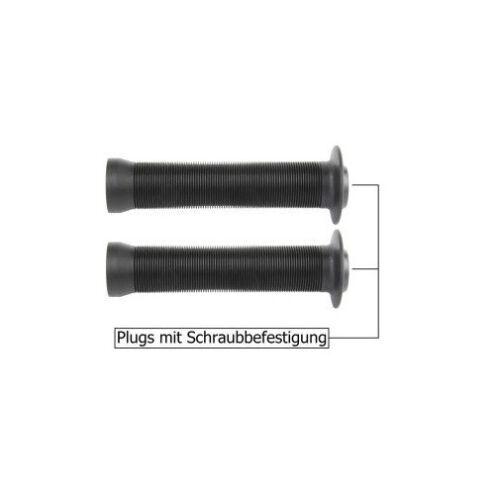 VELO BMX-Griffe 147//147 mm SCHWARZ Paar Schraubplugs Fahrradgriff