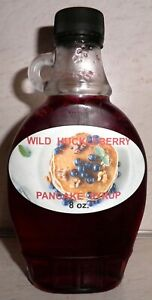 Homemade-WILD-HUCKLEBERRY-Pancake-Syrup-8-oz-Bottle-All-Natural-FREE-SHIPPING