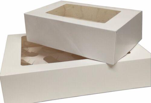 10x Negro Caja de la Magdalena ramo cada uno con 7 Soportes de tazas de la Magdalena