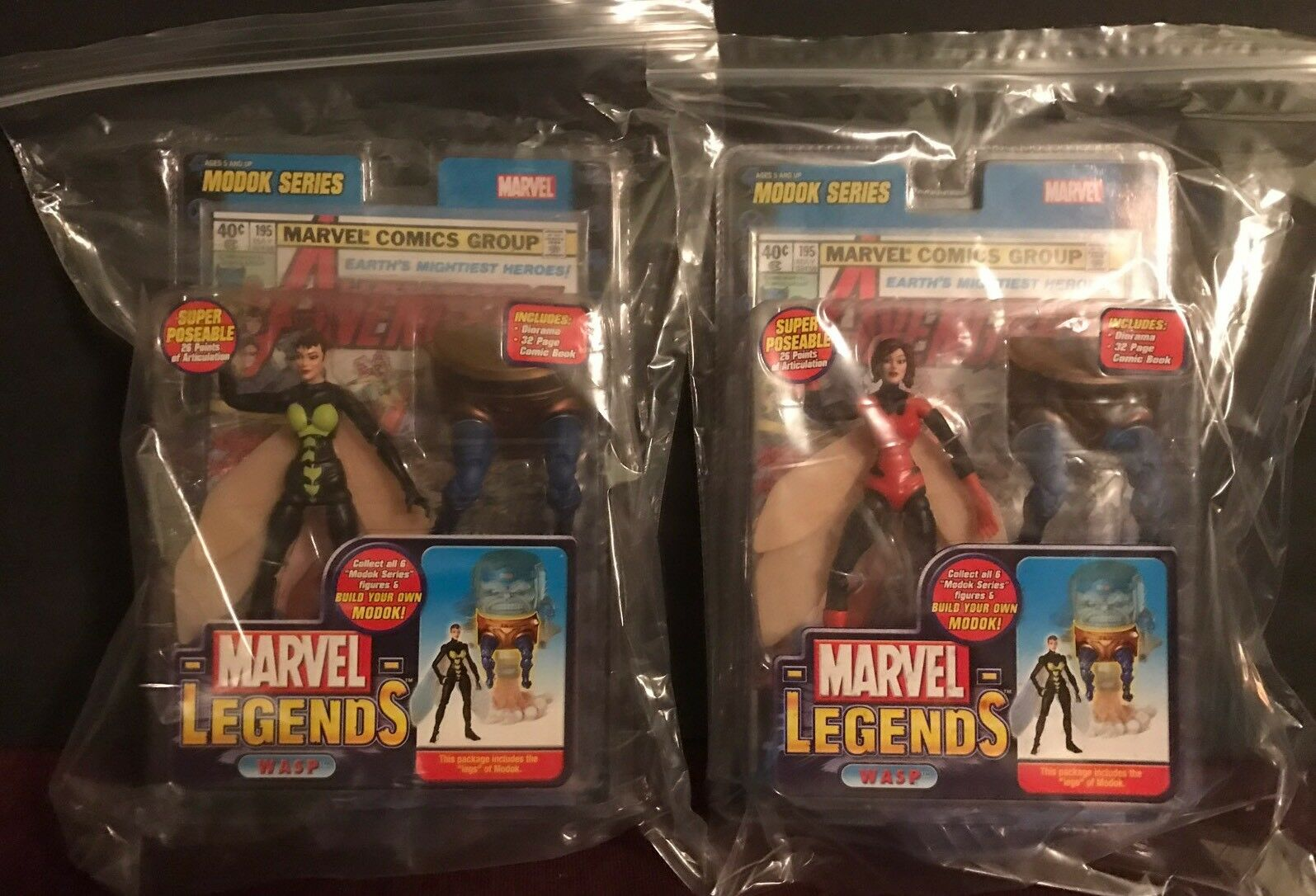 Marvel Legends WASP Lot Of (2) Variant Modok Look