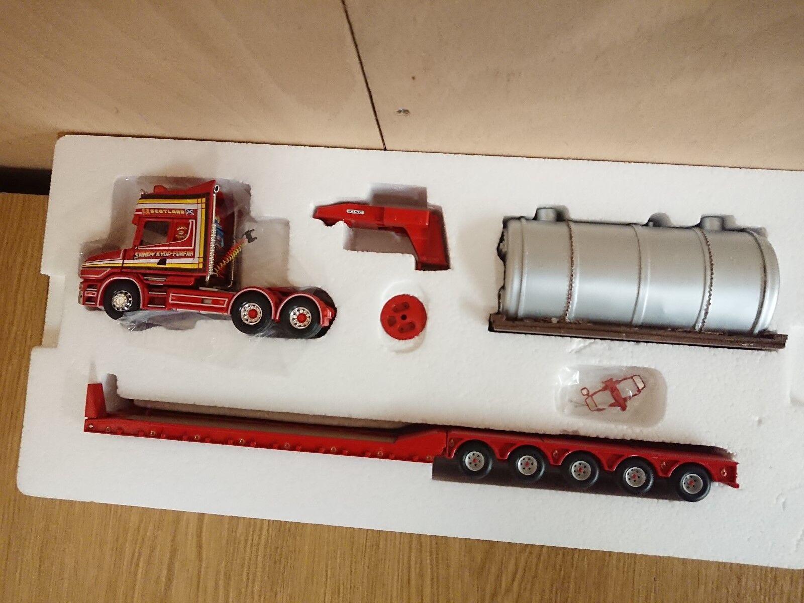 CORGI CC12810 Heavy Haul SCANIA T5 Essieu King Trailer & Boiler LTD ED 0002 of2600