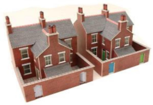 Metcalfe PN103 Terrace Houses Red Brick Card Kit N Gauge