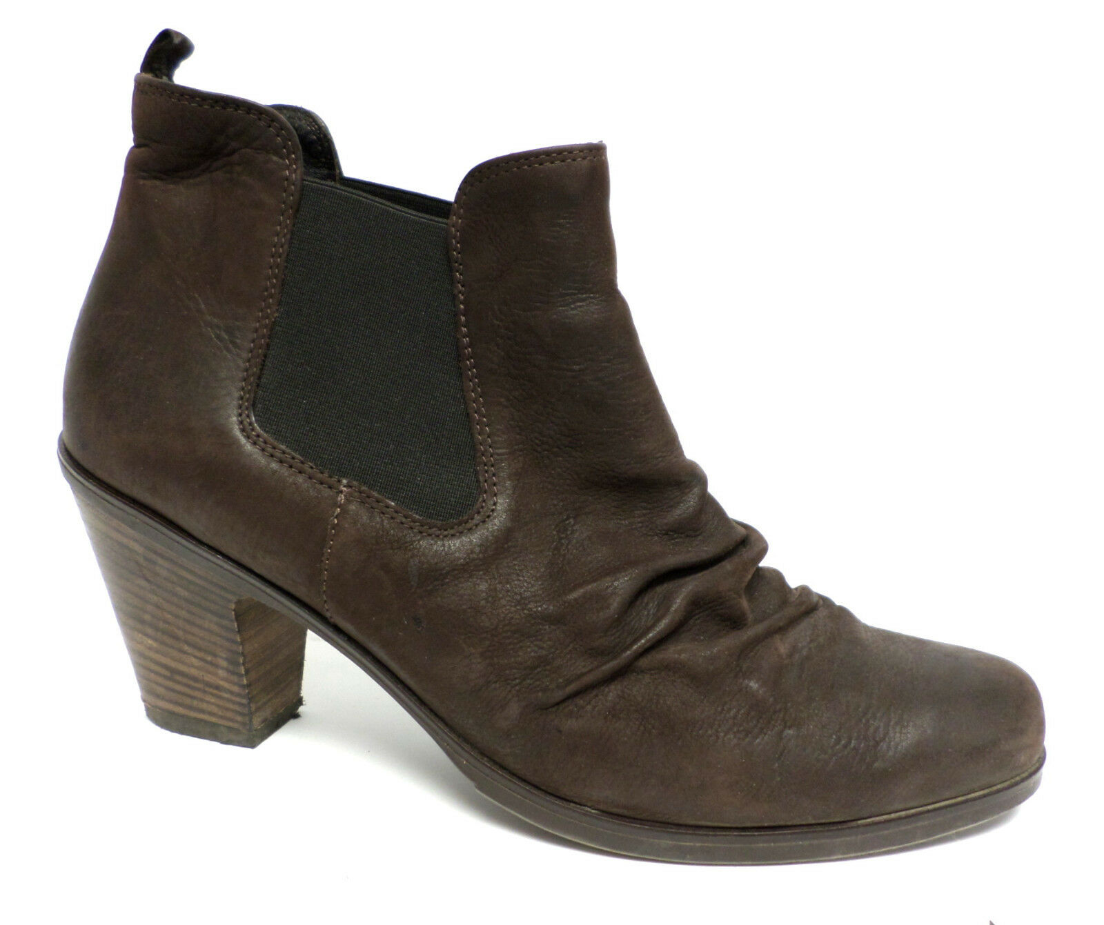 PAUL GREEN Size 9 Brown Nubuck JANO Leather Ankle Boots