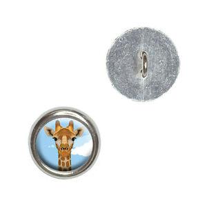 Giraffe - Zoo Animal Safari - Metal Craft Sewing Novelty Buttons Set of 4