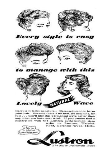 Vintage hair product poster reproduction Lustron