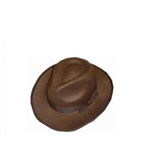 Men/'s Brown Fedora Fancy Dress Hat Indiana Jones Halloween Kruegar Explorers